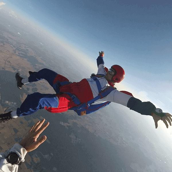 Saut parachute solo