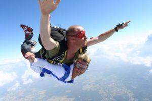 Bapteme saut en parachute proche Nantes